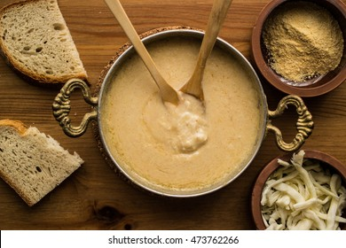 Muhlama / Corn Porridge with Cheese.