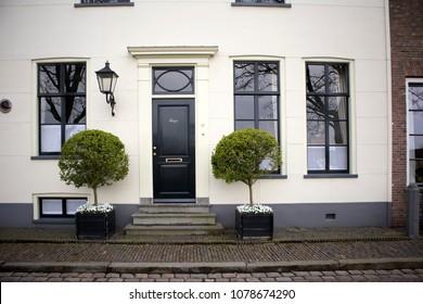 Muiden , Holland - 14 April 2018 Old building in small village Muiden