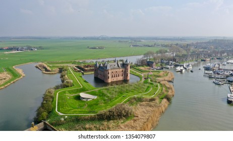 Muiderslot, Muiden Castle in the Netherlands on a sunny spring day built in 1280