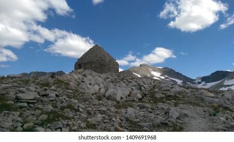 Muir hut at Muir Pass on the John Muir Trail in the Sierra Nevadas