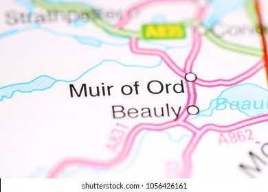 Muir of Ord. United Kingdom on a map