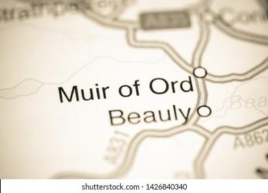 Muir of Ord. United Kingdom on a map