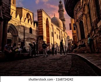 Muizz street in Egypt , cairo in 21 june 2017
