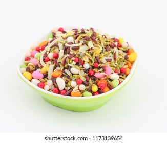 Mukhwas indian traditional digestive food good to eat after lunch or dinner, also serve in festival of diwali, holi, and for guest