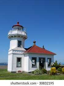 Mukilteo Lighthouse Built in 1906 at the Site Where in 1792 Captain George Vancouver Came Ashore to Survey While Exploring Puget Sound, Mukilteo, Washington, USA