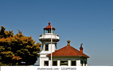Mukilteo Lighthouse is a operational navigation aid located on eastern Possession Sound at Mukilteo, Washington.