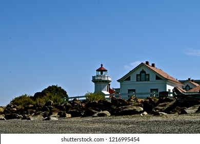 Mukilteo lighthouse is an operational navigation aid located on eastern Possession Bay in Washington state.