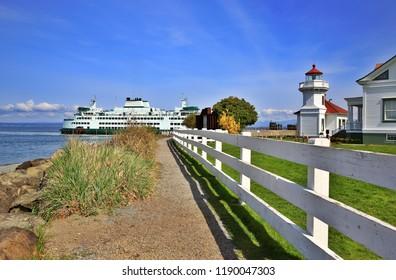 Mukilteo lighthouse in Washington-USA