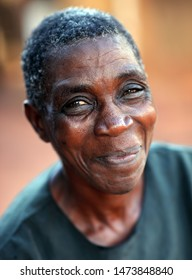 MUKUNI - ZAMBIA - JANUARY 8, 2011: Unidentified woman in Mukuni village near Livingstone