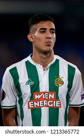 Muldur of Rap Wien during the Group G match of the UEFA Europa League between Villarreal CF and Rapid Wien at La Ceramica Stadium Villarreal, Spain on October 25, 2018.