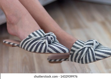 mule shoes for women striped