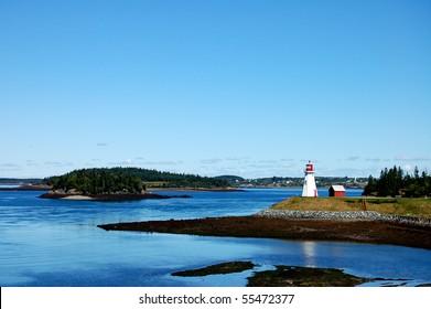 Mulholland Point Lighthouse on Campobello Island, New Brunswick, Canada