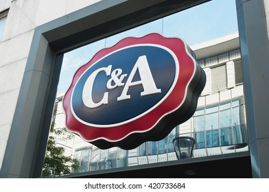"""MULHOUSE - France 15 May 2016 - retail of the logo of the brand """"C and A"""" signage"""