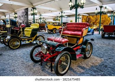 MULHOUSE - June 17, 2019: Piccolo retro car in National Automobile Museum, Cité de l'Automobile, Collection Schlumpf