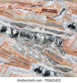 Mulicolored abstract natural marble texture. Seamless square background, tile ready. High resolution photo.