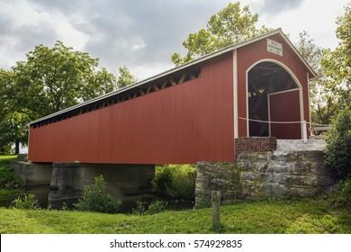 Mull Covered Bridge, built in 1851 and located in Ohio.