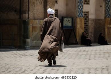 Mullah walking in Isfahan