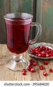 Mulled wine - a beverage made with red wine along with various mulling spices and raisins.