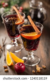 Mulled wine or hot punch for Christmas