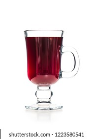Mulled wine isolated on white background