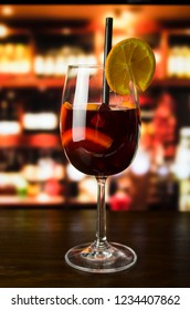 Mulled wine on bar
