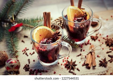 mulled wine and spices