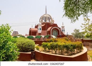 Multan Masjid Allah O Akbar Mosque at Ring Road near Ghanta Ghar Clock Tower on a Sunny Blue Sky Day