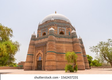 Multan Shah Rukn-e-Alam Sufi Tomb Tughluq Picturesque Breathtaking View on a Sunny Blue Sky Day