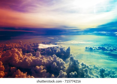 multi color of beautiful cloud and sky for background.