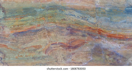 Multi color marble texture with high resolution, exotic agate honed surface of exterior, Emperador breccia marbel, rustic finish Quartzite limestone, polished terracotta quartz slice mineral.