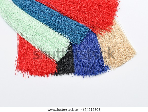 Multi Colored decorative brush for curtains. Abstract background