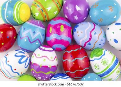 Multi colored easter egg