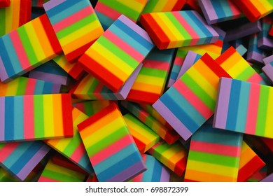 Multi colored flag of the colors of the rainbow spectrum