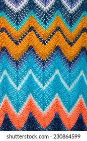 multi colored handmade knitted pattern