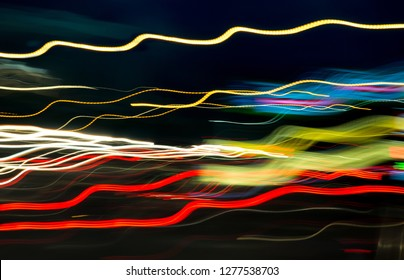 Multi Colored Light Trails for a Background