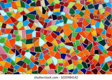 multi colored mosaic tile background