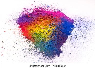 multi colored natural pigment powder