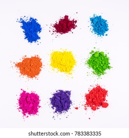 multi colored natural pigment powder