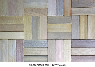 multi colored parquet floor, top view, wooden background