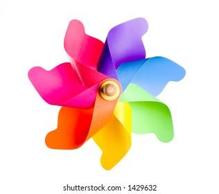 Multi Colored Pinwheel