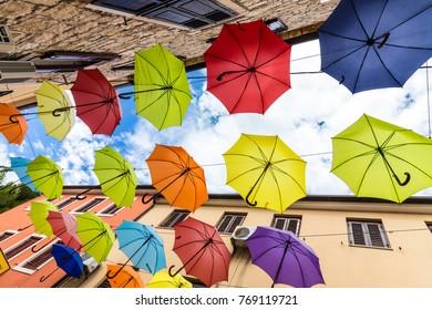 Multi Colored umbrellas