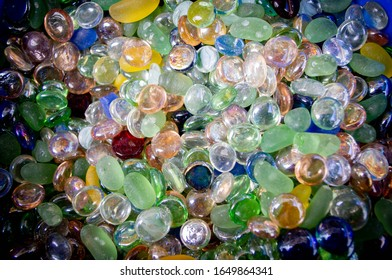 multi coloured glass gems and stones