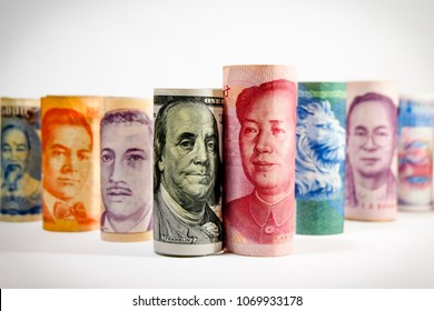 Multi Currency from many country which others country was effected from dollar of United state of America and Yuan China after 2 biggest country announce increase trade tariff tax.