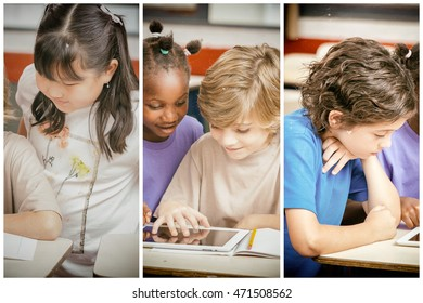 Multi ethnic classroom. School and integration concept.