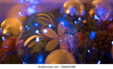 Multi Exposure of Winter Holiday Decorations