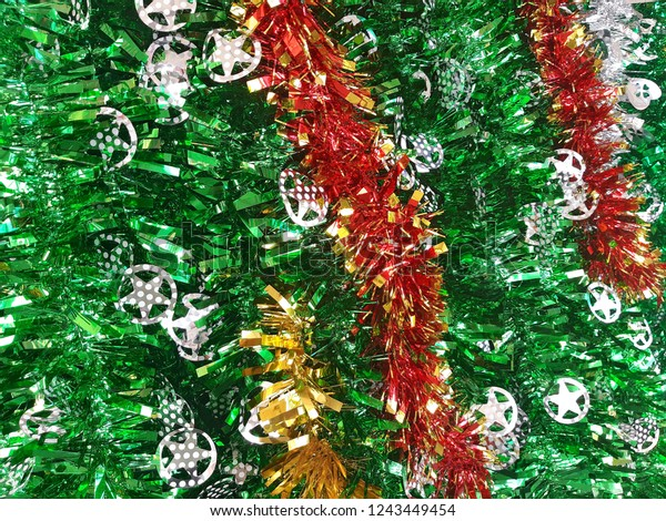Multi Mix Colored Tinsel Garland New Stock Photo Edit Now 1243449454