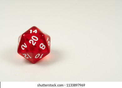multi sided dice isolated white background