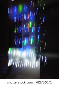 Multicolor Abstract lights in motion for Christmas and New Year celebrations. Abstract background of Green, Blue, Red, Pink, Purple, Yellow and white.