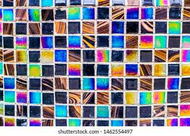 multicolor abstract texture mosaic made up of tiled squares of different colors