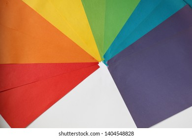Multicolor background from a cardboard of different colors.